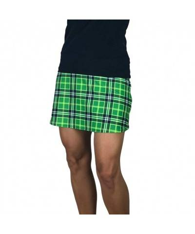 Smash Dandy Green Plaid Skort