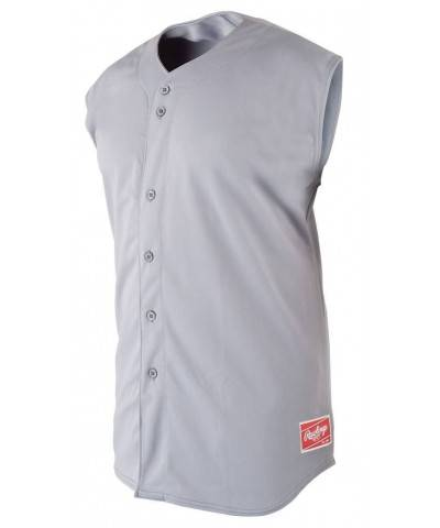 Rawlings Boys Sleeveless Button Jersey