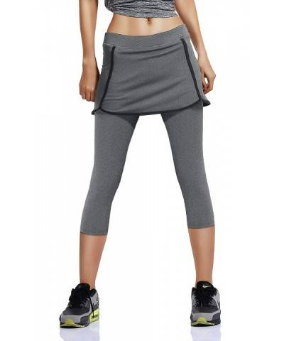 Womens Running Skirted Leggings Athletic