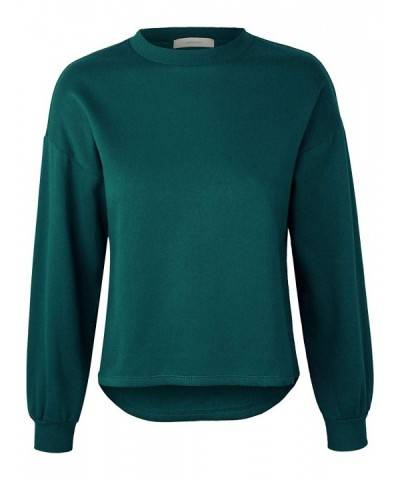 makeitmint Womens Oversized Sweatshirt YIL0020 TEAL LRG